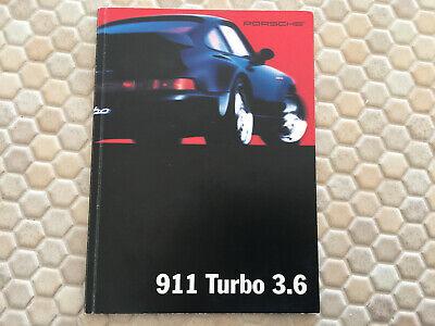 PORSCHE OFFICIAL 964 968 911 928 911 TURBO 3.6 PCNA USA SALES BROCHURE 1993