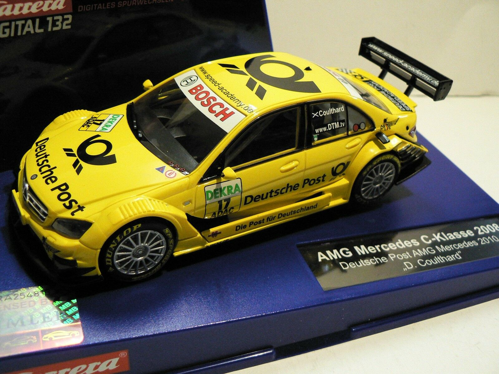 Carrera Digital 132 30561 Amg-Mercedes DTM Deutsche post David Coulthard New