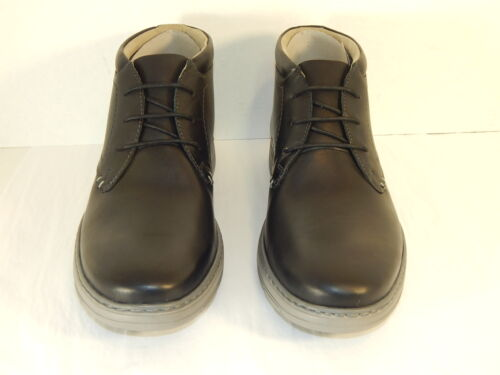 CLARKS WATTS MID MENS LACE-UP LOW BOOT BLACK LEATHER