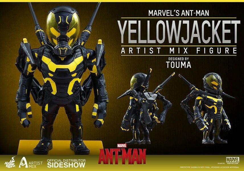 moda Sideshow ARTIST mezcla Ant-Man amarillo Jacket Jacket Jacket Figura de Acción Hot Juguetes  en stock