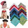 100% Cotton Paisley Bandanas double sided printed head wrap scarf wristband