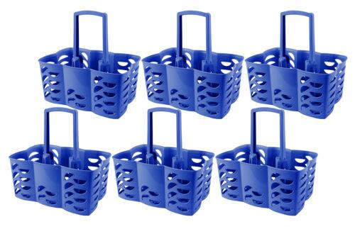6er Set Flaschenträger Flaschenkorb blau 6 Flaschen Made in Germany Dosen