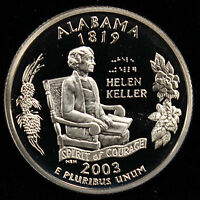 2003-S State Quarter Alabama Gem Proof DCAM CN-Clad Coin Uncirculated