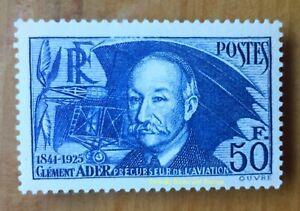 EBS-France-1938-En-Souvenir-de-Clement-Ader-Aviateur-YT-398-MNH-cv-180-284-a