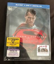 BATMAN V SUPERMAN DAWN OF JUSTICE BLU RAY + DVD TARGET EXCLUSIVE 64PAGE DIGIBOOK