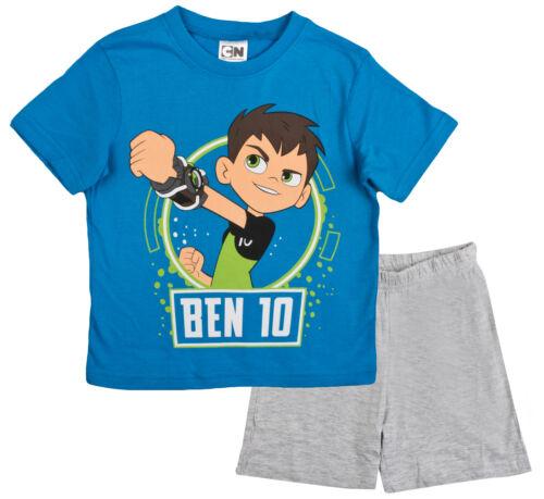 Ragazzi Ben 10 Brevi Pigiami Bambini Blu Estate Shortie /'Pjs T-shirt Pantaloncini Taglia