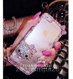 Pink Bling Glitter Crystal Hello Kitty Transparent Hard