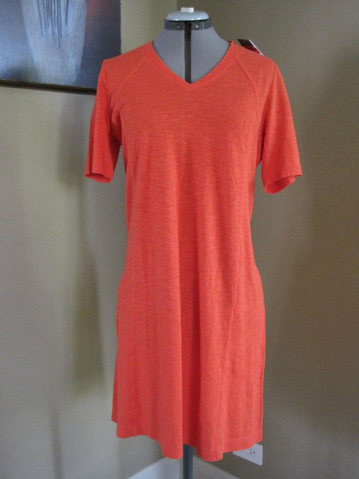 Neuf avec étiquettes Eileen Fisher chanvre Coton Bio Col V à hommeches courtes robe taille S