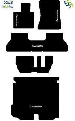 4 decori X5 E70 TAPPETI AUTO Tappetini Posteriori Uniti 7 Posti e Baule 4block