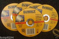 5 X DEWALT DT42340 125MM X 1MM INOX STAINLESS STEEL METAL CUTTING GRINDER DISCS