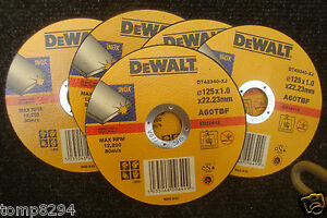 5-X-DEWALT-DT42340-125MM-X-1MM-INOX-STAINLESS-STEEL-METAL-CUTTING-GRINDER-DISCS