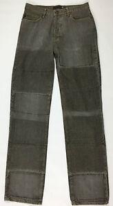 Just-Cavalli-jeans-uomo-w32-tg-46-gamba-dritta-boyfriend-grigio-denim-usato-T650