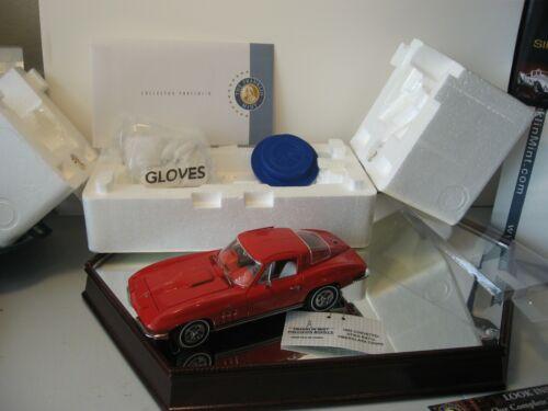 RED 1965 CHEVROLET CORVETTE FRANKLIN MINT CERTIFIED FIBERGLASS BRAND NEW