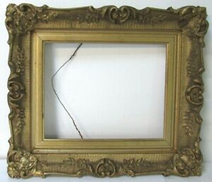 19-c-ANTIQUE-GREAT-QUALITY-GILT-FRAME-FOR-PAINTING-10-X-8-OUTSIDE-15-X-13-INCH