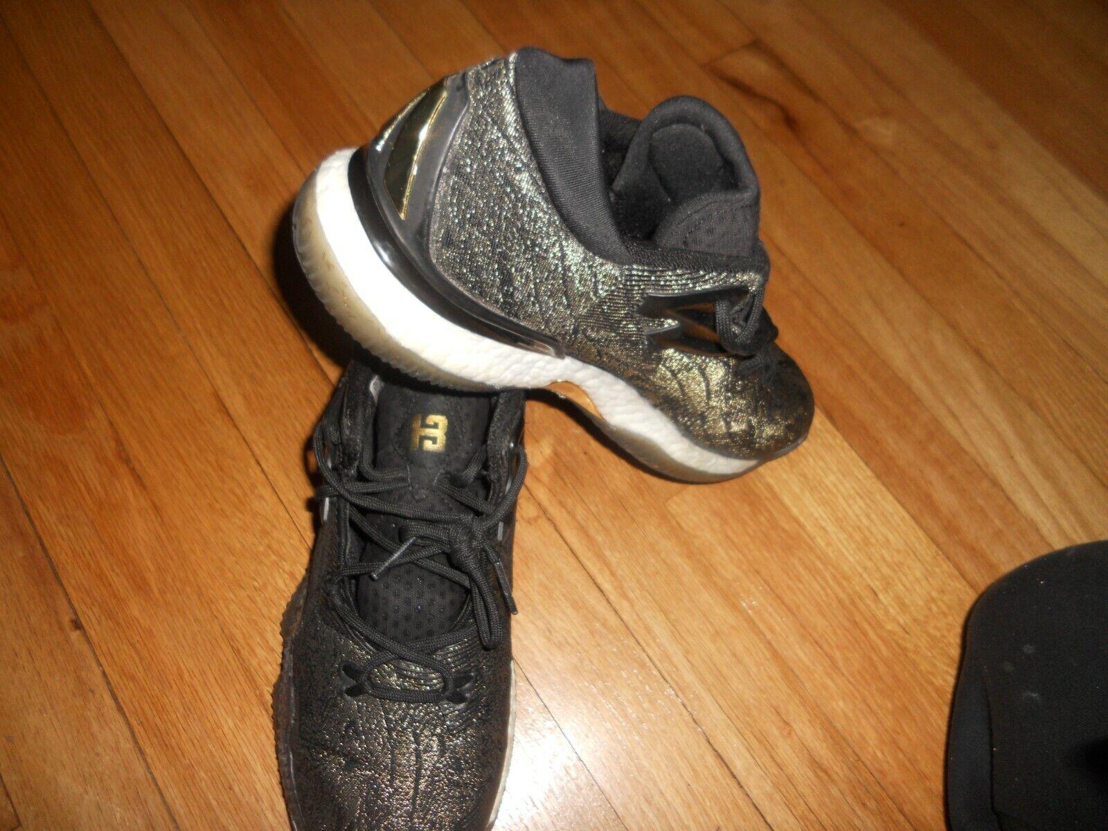 Adidas Crazylight Boost 2016 James Harden Men's 9.5 Black gold B39061 Sharp LQQK