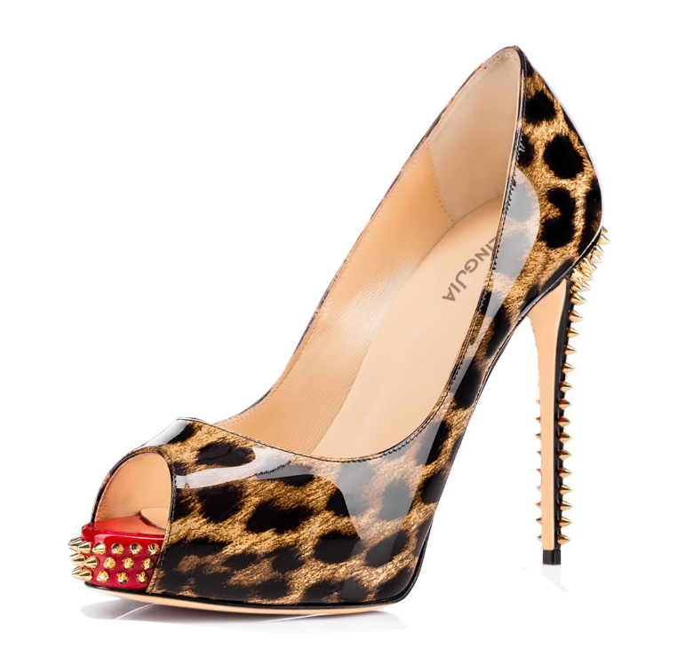 Sexy Womens Oxford European Peep Toe Retro Stilettos Pump High Heel shoes