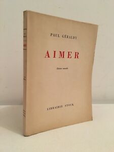 Paul-Geraldy-Like-Edicion-Nueva-Libreria-Stock-1952