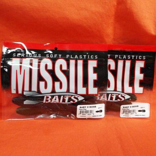 7PK 2PK/'S SUPER BUG MBBD366-SBG MISSILE BAITS BABY D BOMB