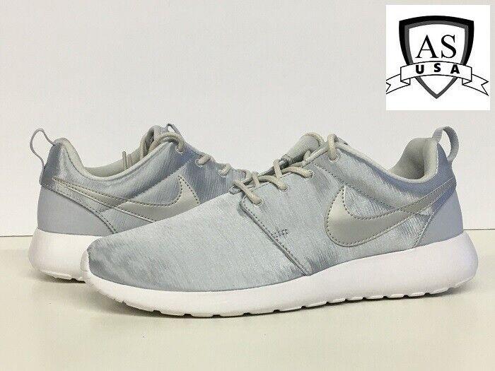5a16efbedaa75 Nike Roshe One Premium Women s 833928-007 Metallic Pure Platinum shoes Size  7.5