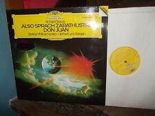 STRAUSS: Also sprach Zarathustra + Don Juan > Berlin Karajan / DG Ger digital LP