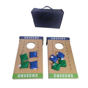 2-IN-1-Cornhole-Bean-Bag-Toss-Set-Outdoor-Party-Game-Set-Wood-Platform-W-Carry