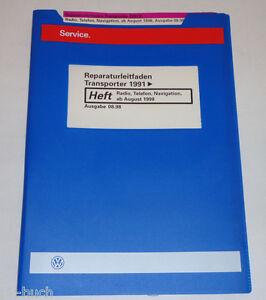 Workshop Manual VW Bus/Transporter T4 Radio Telephone Navigation ab 08/1998