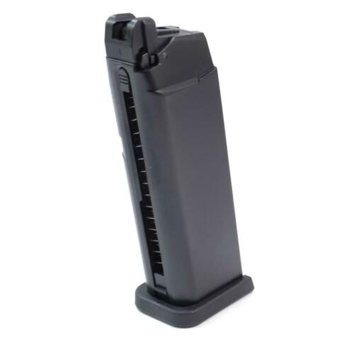 WE Airsoft Magazine Green Gas Type for G19 G23 Black 19rd 6mm Bb Toy Part