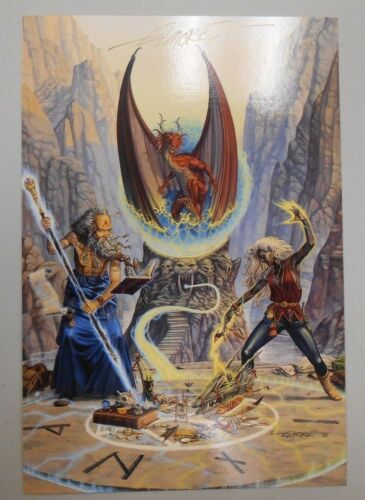 "SIGNED 1995 Larry Elmore Colossal Card #6 ""The Conjuring Stone"" NMMN! RARE AUTO"