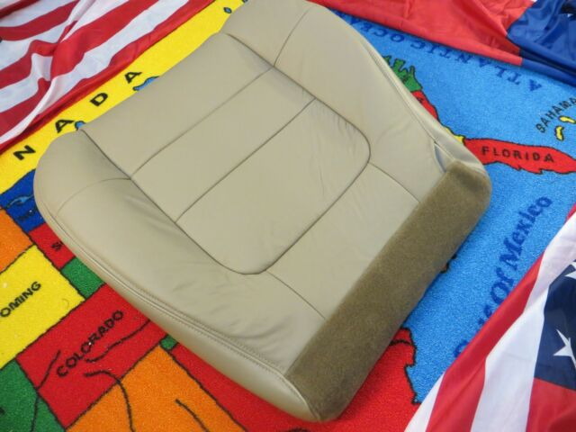 2001 -02 FORD F. 150 V8 LARIAT Driver side Bottom Leather Seat cover ( TAN )