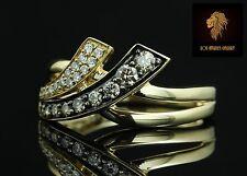 $3250 /  Levian Chocolate and Vanilla Diamonds crossover Ring / 14K gold