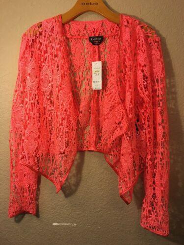 Bebe Crochet Lace Jacket Size 0