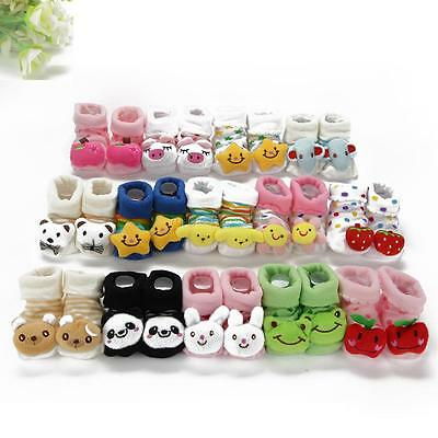 Cartoon Kid Newborn Baby Girl Boy Socks Slipper Shoes Boots Booty Booties Bootee