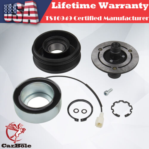 Plate Bearing Coil Pulley For 2004-2010 Mazda 3 5 A//C AC Compressor Clutch KIT