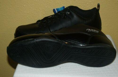 Size  9.9.5,10,11M Air Balance Black Faux Leather Men Lace-up Sneaker    AB4002