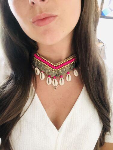 Handmade Shell Choker Necklace