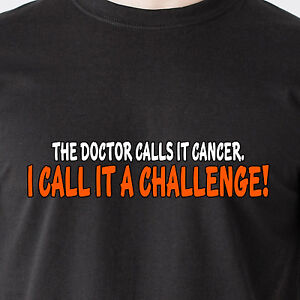 the doctor calls it cancer i call it a challenge god breast retro Funny T-Shirt