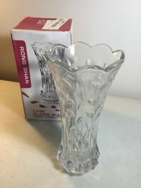Slymeay YISHENGRONG Flower Vase Large Size Phoenix Tail Shape Thickened Crystal