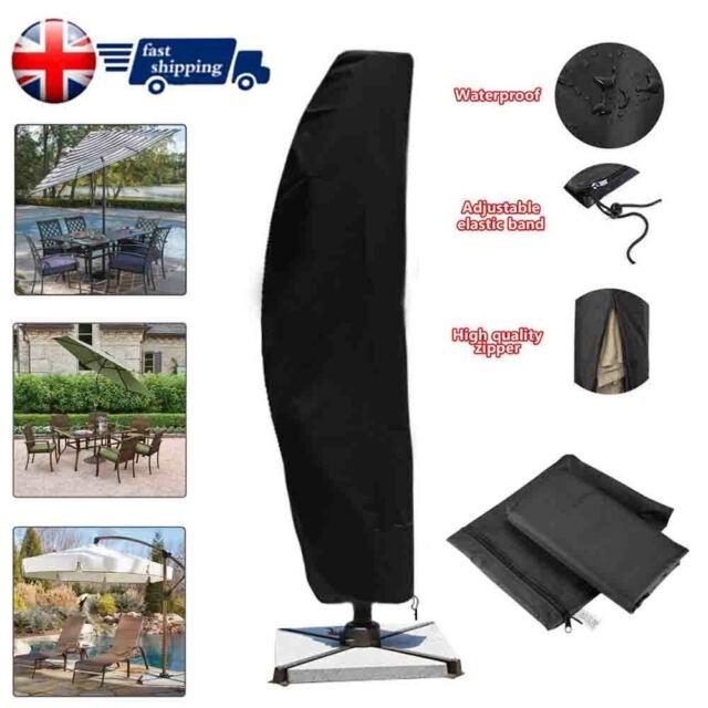 Deluxe Cantilever Parasol Banana Umbrella Cover Zipped Garden Patio 3M Newest!