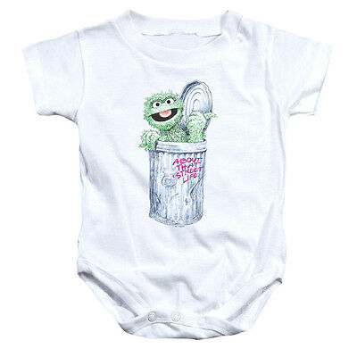 Sesame Street Oscar The Grouch Life Infant Snapsuit Baby Romper 6 12 18 Or 24m Ebay
