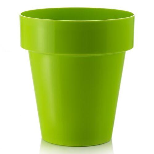 20cm Fiori Porto Green Planter//Indoor Contemporary Round Flower Pot//Home//Garden