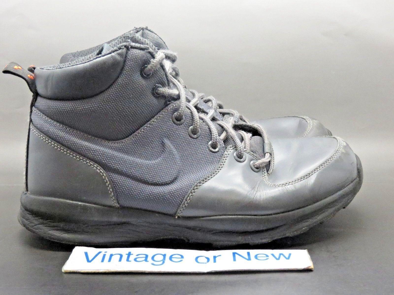 Men's Nike Manoa ACG Dark Grey Anthracite Black Boots sz 8