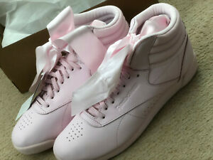 c59554ada53 Reebok Classics Freestyle Hi Satin Bow women Trainers Pink - SIZE UK ...