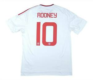 Manchester United 2015-16 Authentic AWAY SHIRT ROONEY #10 (eccellente) L