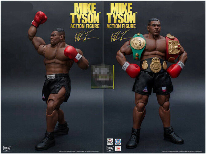 With 3 Head Sculpt 1//12 Scale King of Boxing Mike Tyson PVC Action Figure