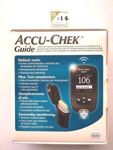 ACCU-CHEK GUIDE KIT glucometro WIRELESS INCLUSE 10 STRISCE e 10 LANCETTE - Roche