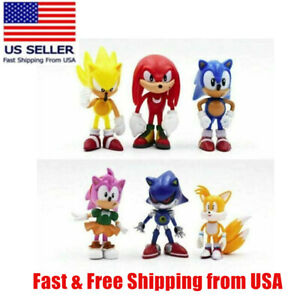 6pcs Sonic The Hedgehog Action Figures Collection Gift Toys For Kids Usa Seller Ebay