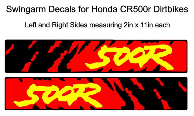 Swingarm Decals for Honda CR500r dirtbike CR500 CR 500 500R