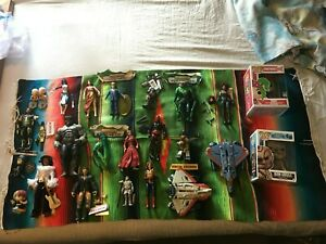 Mixed action figure lot. Marvel Legends, WWE, Ghostbusters, Transformers, DC Com