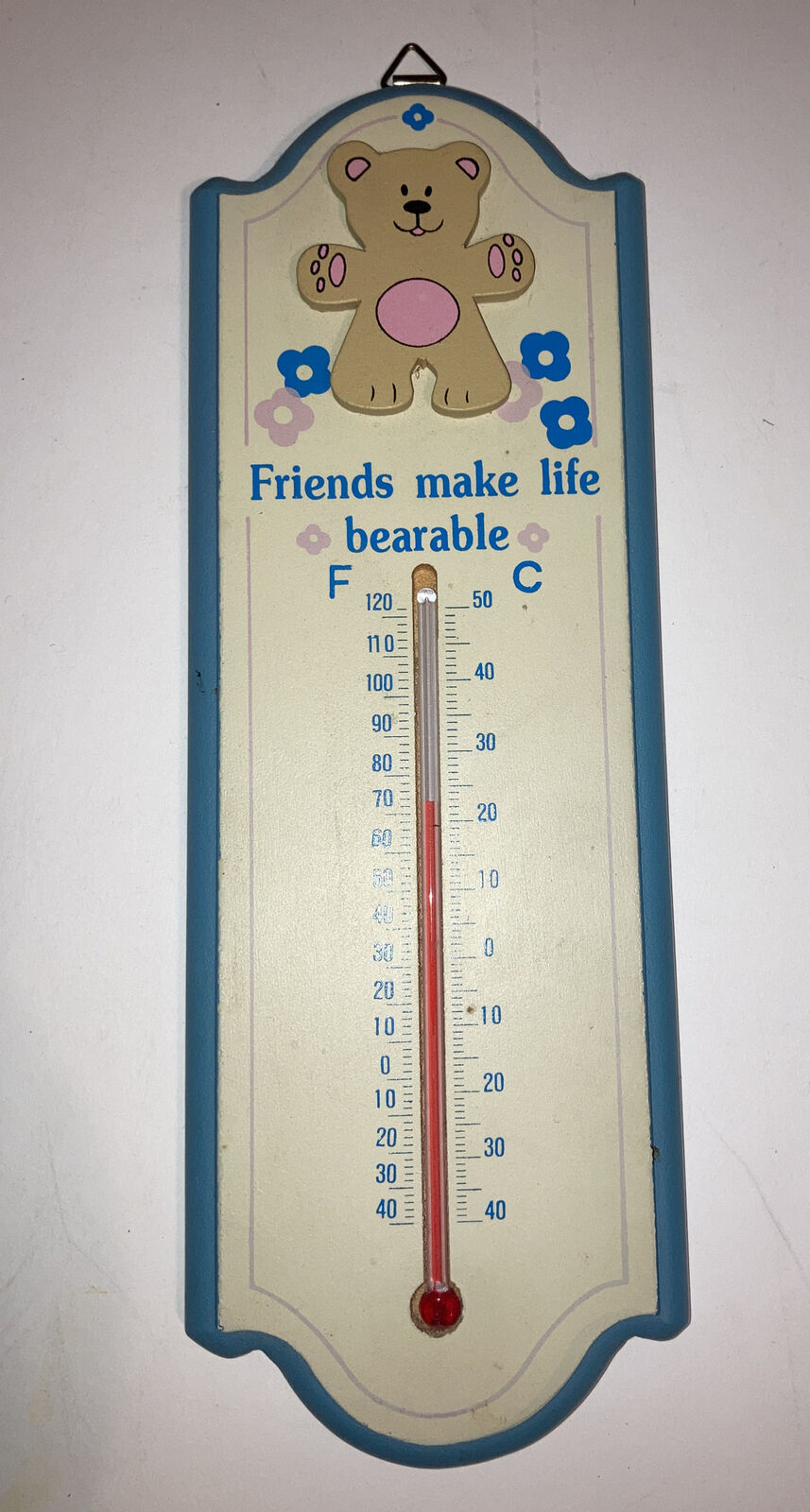 Vtg 1980s Wall Thermometer