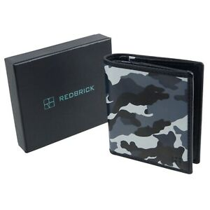 Redbrick-Leather-Mens-Compact-Wallet-Grey-Camouflage-RFID-Protected
